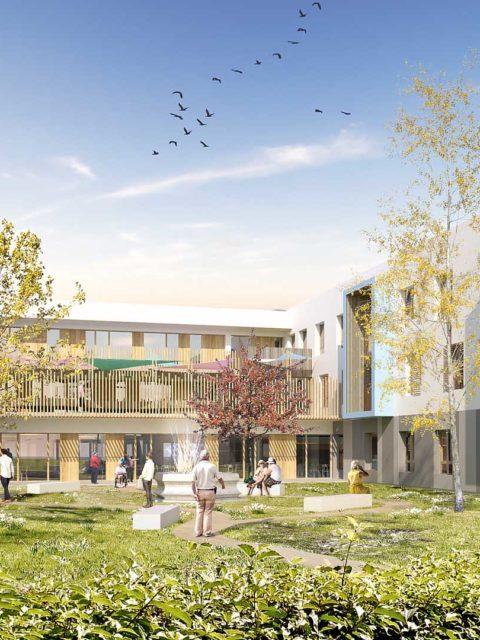 Nouvel EHPAD à Saint-Etienne-de-Saint-Geoirs (38) pour 2021
