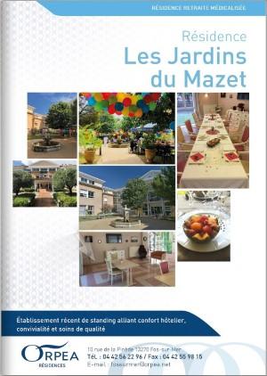 Livret d'accueil EHPAD Les Jardins du Mazet